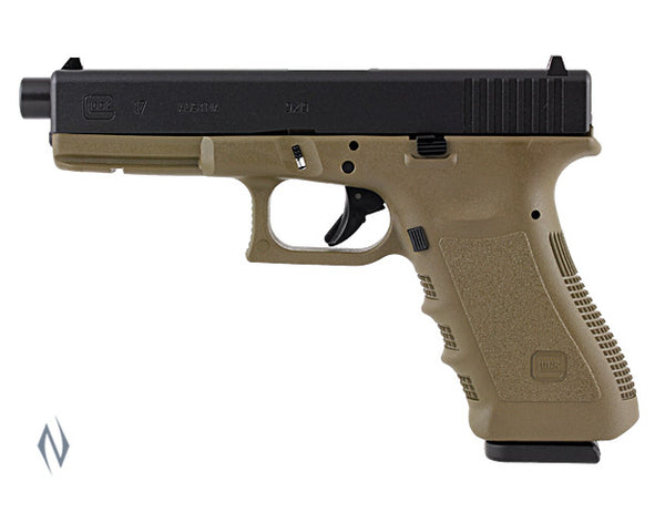 GLOCK 17A 9MM FULL SIZE 10 SHOT OLIVE FRAME 122MM - SKU: GLOCK17AO a  from GLOCK sold by the best firearms store in Australia - Safari Firearms