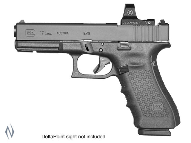 GLOCK 17 9MM FULL SIZE 17 SHOT GEN4 MOS 114MM - SKU: GLOCK17G4MOS, 1000-2000, Firearms, Handguns, safari-firearms, semi-automatic-handguns