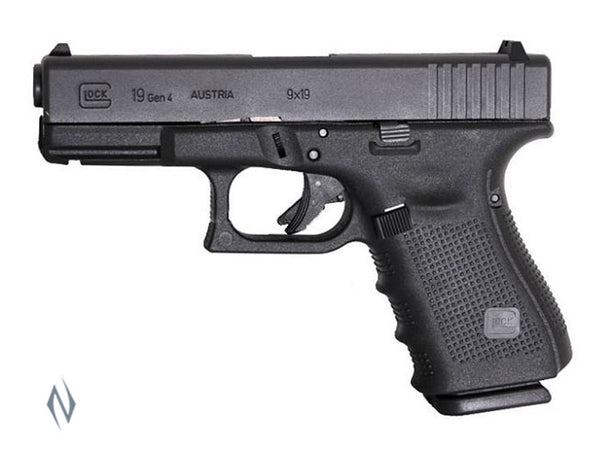 GLOCK 19 9MM COMPACT 15 SHOT GEN4 102MM - SKU: GLOCK19G4 a  from GLOCK sold by the best firearms store in Australia - Safari Firearms
