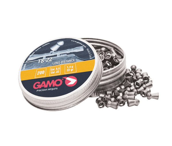 Gamo - TS-22 Long Range Pellets .22(Tin 200) - SKU: GPTS22, air-gun-pellets, Ammunition, gamo, under-50
