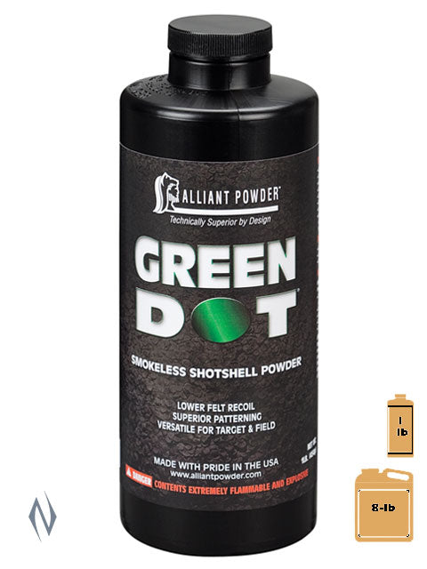 ALLIANT GREEN DOT 1LB .454KG - SKU: GREENDOT-1 a  from ALLIANT sold by the best firearms store in Australia - Safari Firearms