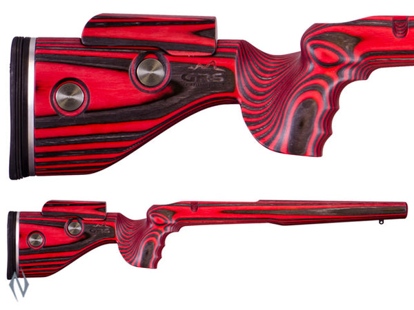 GRS HUNTER STOCK BROWNING X BOLT LA BLACK/ RED - SKU: GRS103557 a  from GRS sold by the best firearms store in Australia - Safari Firearms