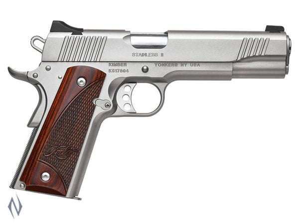 KIMBER 1911 STAINLESS II 45ACP 127MM - SKU: K-SII45 a  from KIMBER sold by the best firearms store in Australia - Safari Firearms