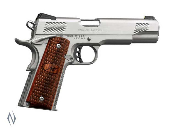 KIMBER 1911 STAINLESS RAPTOR II 45ACP 127MM - SKU: K-SRII a  from KIMBER sold by the best firearms store in Australia - Safari Firearms