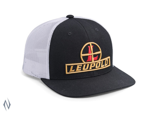 LEUPOLD #511 RETICLE FLAT BILL TRUCKER CAP BLACK / WHITE OS - SKU: LE172601 a  from LEUPOLD sold by the best firearms store in Australia - Safari Firearms