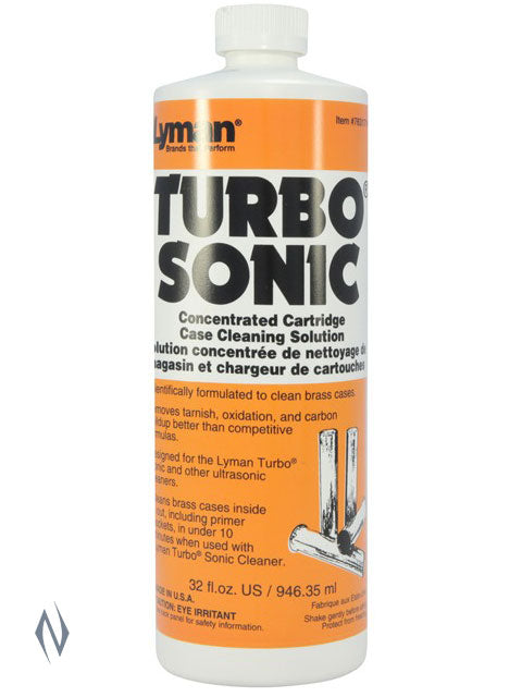 LYMAN TURBO SONIC CASE CLEANING SOLUTION 32 OZ - SKU: LY-TSC32 a  from LYMAN sold by the best firearms store in Australia - Safari Firearms