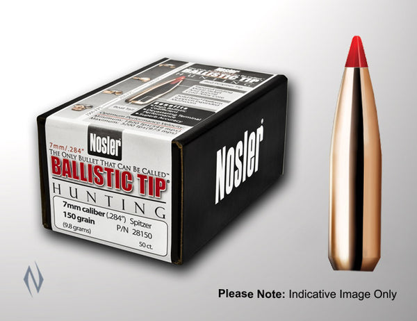 NOSLER 308 150GR BALLISTIC TIP 50PK - SKU: NB30150, Components, nosler, projectiles, Reloading-Supplies, under-50