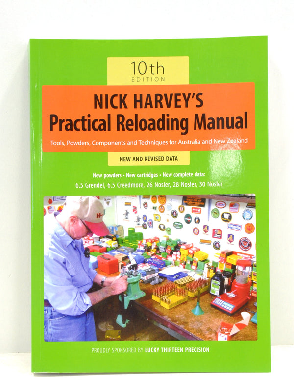 Nick Harvey - Manual - SKU: NHLUCKY-13, 50-100, Amazon, ebay, lucky-13, reloading-manuals, Reloading-Supplies