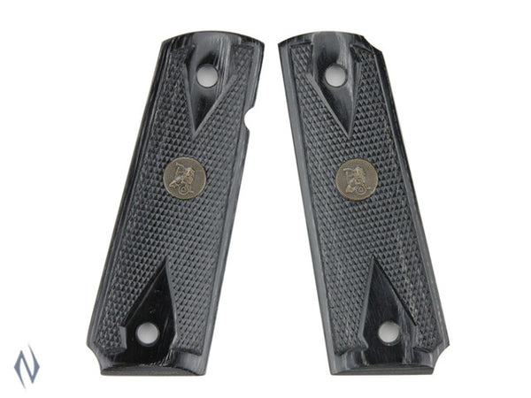 PACHMAYR RENEGADE LAMINATED GRIPS 1911 DIAMOND CHECKERED CHARCOAL - SKU: P-00441 a  from PACHMAYR sold by the best firearms store in Australia - Safari Firearms