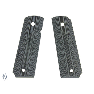 PACHMAYR G10 TACTICAL GRIPS 1911 GREY / BLACK FINE - SKU: P-61001, 50-100, Firearm-Parts, grips, pachmayr