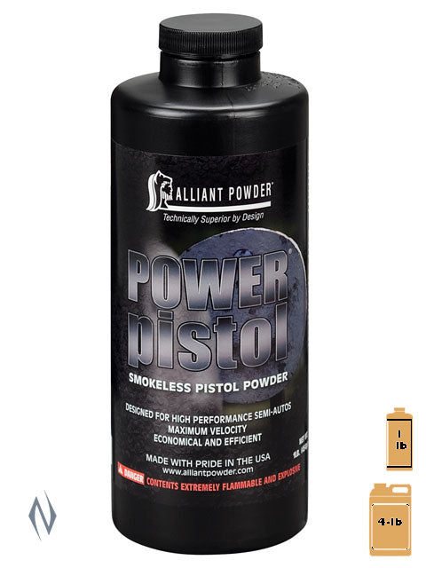 ALLIANT POWER PISTOL 1LB .454KG - SKU: POWPIST-1, 50-100, alliant, Components, propellant-powder, Reloading-Supplies