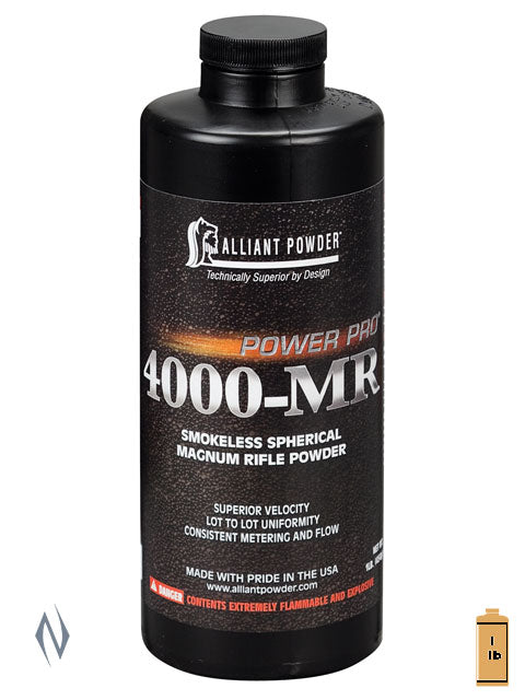ALLIANT POWER PRO 4000 1LB .454 KG - SKU: PPRO4000-1, 50-100, Components, propellant-powder, Reloading-Supplies, safari-firearms