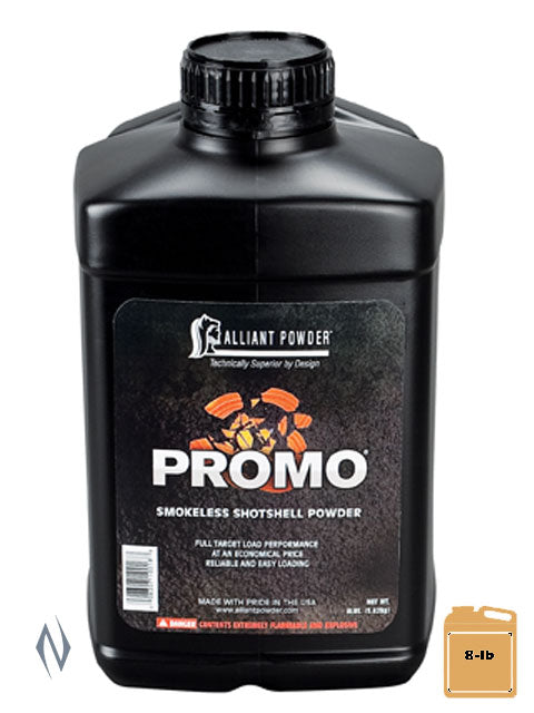 ALLIANT PROMO 8LB 3.62 KG - SKU: PROMO-8, 200-500, alliant, Components, propellant-powder, Reloading-Supplies