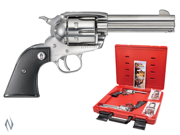 RUGER VAQUERO SASS 357 STAINLESS 117MM (PAIRS ONLY) - SKU: SASSV3574 a  from RUGER sold by the best firearms store in Australia - Safari Firearms