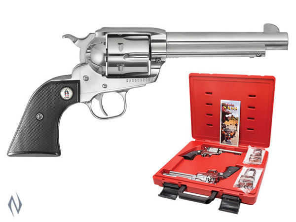 RUGER VAQUERO SASS 45LC STAINLESS 140MM(PAIRS ONLY) - SKU: SASSV455 a  from RUGER sold by the best firearms store in Australia - Safari Firearms