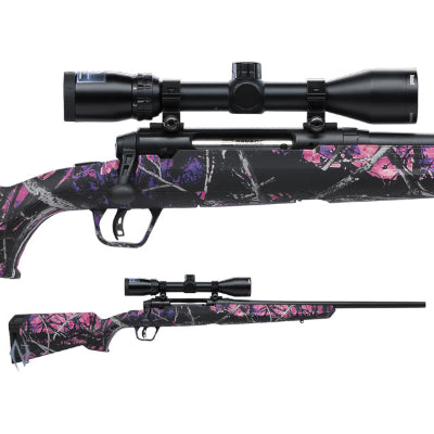 SAVAGE AXIS II XP COMPACT MUDDY GIRL PACKAGE 243 WIN 20 inch 4 SHOT - SKU: SAV55711, 1000-2000, bolt-action-rifles, Firearms, Rifles, savage