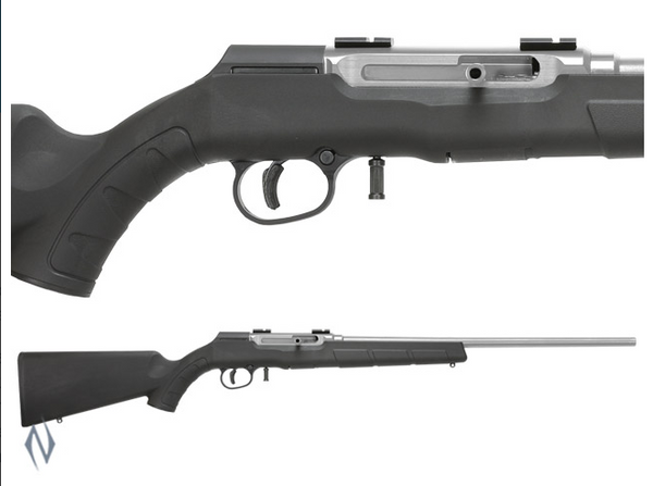SAVAGE - SAVAGE A22 22LR FSS STAINLESS SYNTHETIC 10 SHOT - SKU: A22RFSS