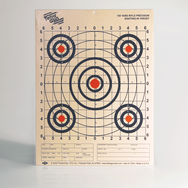 Tetra - Paper Target 100Yd Rifle Precision Sighting Target - SKU: T1325I, ebay, paper-targets, Shooting-Gear, Targets-Target-Holders, tetra, TETRA Amazon, under-50
