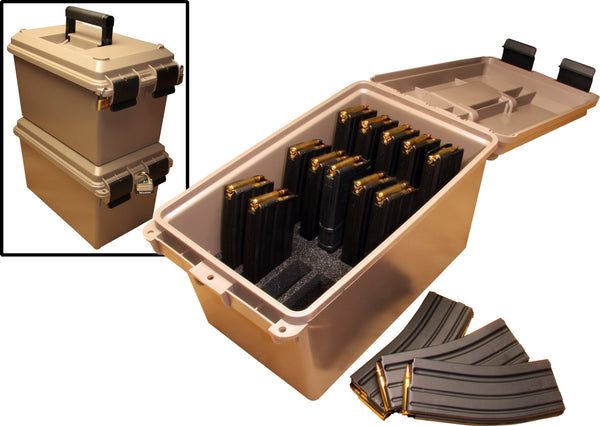 MTM - Tactical Mag Can Dk Earth - SKU: TMC15, 50-100, ammo-cans-dry-boxes, ebay, mtm, Shooting-Gear