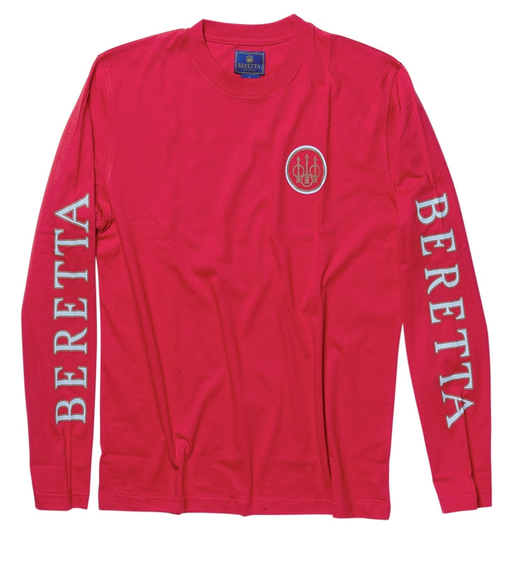 BERETTA 2 LOGO LONG SLEEVE T-SHIRT - SKU: TS71-7294-0038/M - Size: Medium, 50-100, Amazon, Apparel, beretta, ebay, size-medium, t-shirts