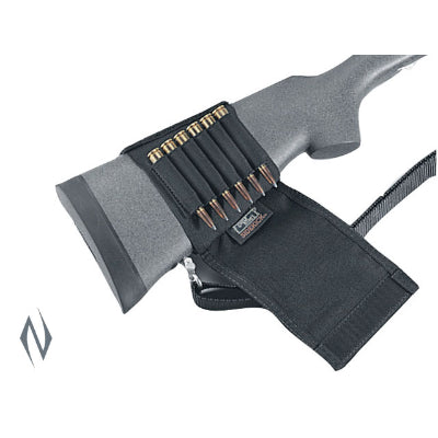 UNCLE MIKES BUTTSTOCK SHELL HOLDER RIFLE FLAP STYLE 6 RND - SKU: UM88482, Amazon, ammunition-carriers, ebay, Shooting-Gear, uncle-mikes, under-50