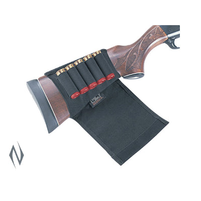 UNCLE MIKES BUTTSTOCK SHELL HOLDER SHOTGUN FLAP STYLE 5 RND - SKU: UM88492, Amazon, ammunition-carriers, ebay, Shooting-Gear, uncle-mikes, under-50