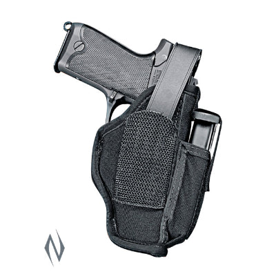 UNCLE MIKES AMBIDEXTROUS SIDEKICK HOLSTER BLACK + CARTRIDGE LOOP - SKU: UMMO70450, 50-100, ebay, holsters, Shooting-Gear, uncle-mikes