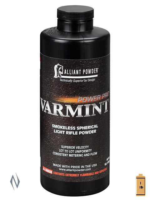 ALLIANT POWER PRO VARMINT 1LB .454KG - SKU: VARMINT-1 a  from ALLIANT sold by the best firearms store in Australia - Safari Firearms