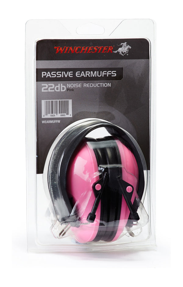 Winchester ear muffs pink (22db) - SKU: WEARMUFFW, Amazon, earmuffs-ear-plugs, ebay, Shooting-Gear, under-50, winchester