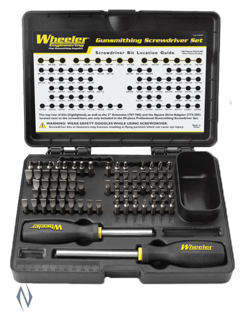 WHEELER SCREWDRIVER SET DELUXE GUNSMITHING 89 PCE - SKU: WH-DGSSPRO a  from WHEELER sold by the best firearms store in Australia - Safari Firearms