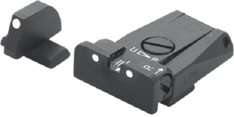 LPA SIGHTS - Adj.Sight Set Beretta 92, 96,98,M9 White - SKU: LPASPR94BE30