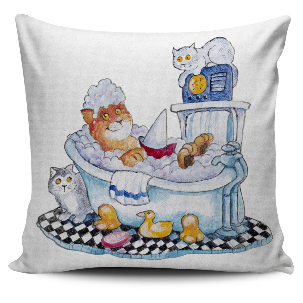 Bill Bell Cats Art - Bubble Bath Cat