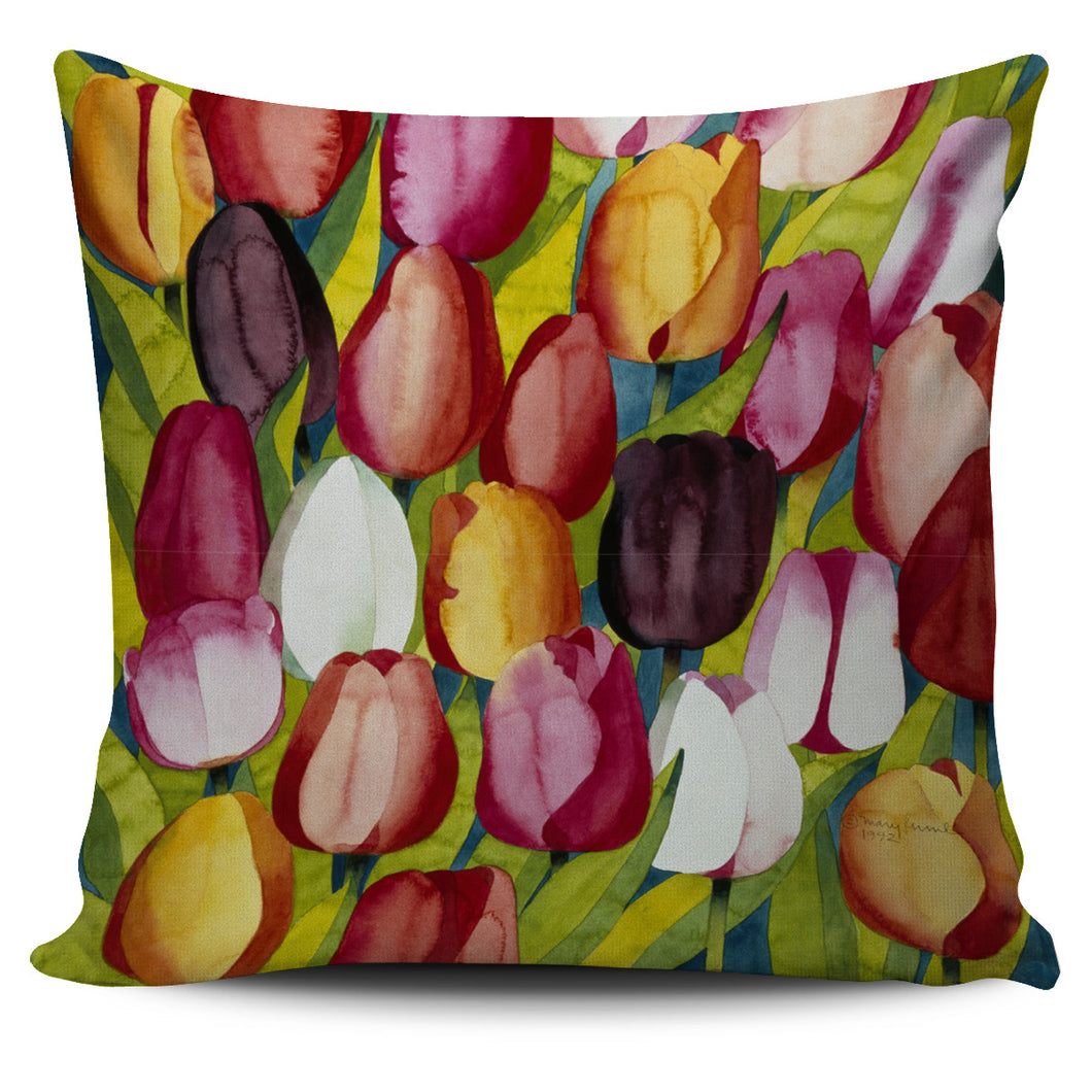 Mary Russell Botanical Art - Colorful Tulips