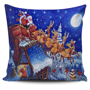 Bill Bell Christmas & Holiday Art - Santa Sleigh Night