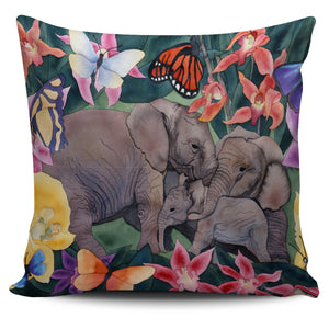 Carissa Luminess Wildlife and Flowers - Elephants and Butterflies