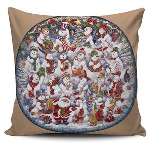 Bill Bell Christmas & Holiday Art - Santa with Snowmen