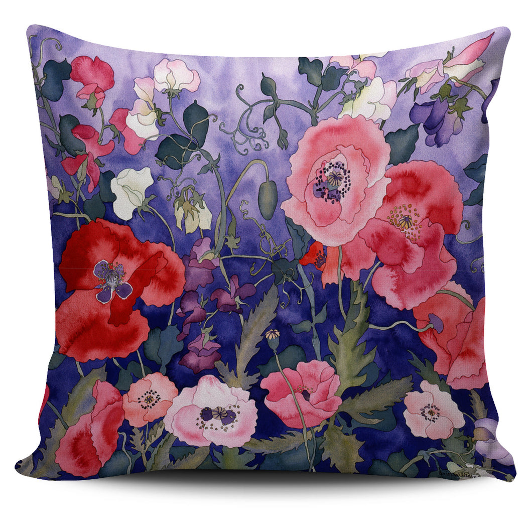 Carissa Luminess Botanical Art - Poppies and Sweet Peas