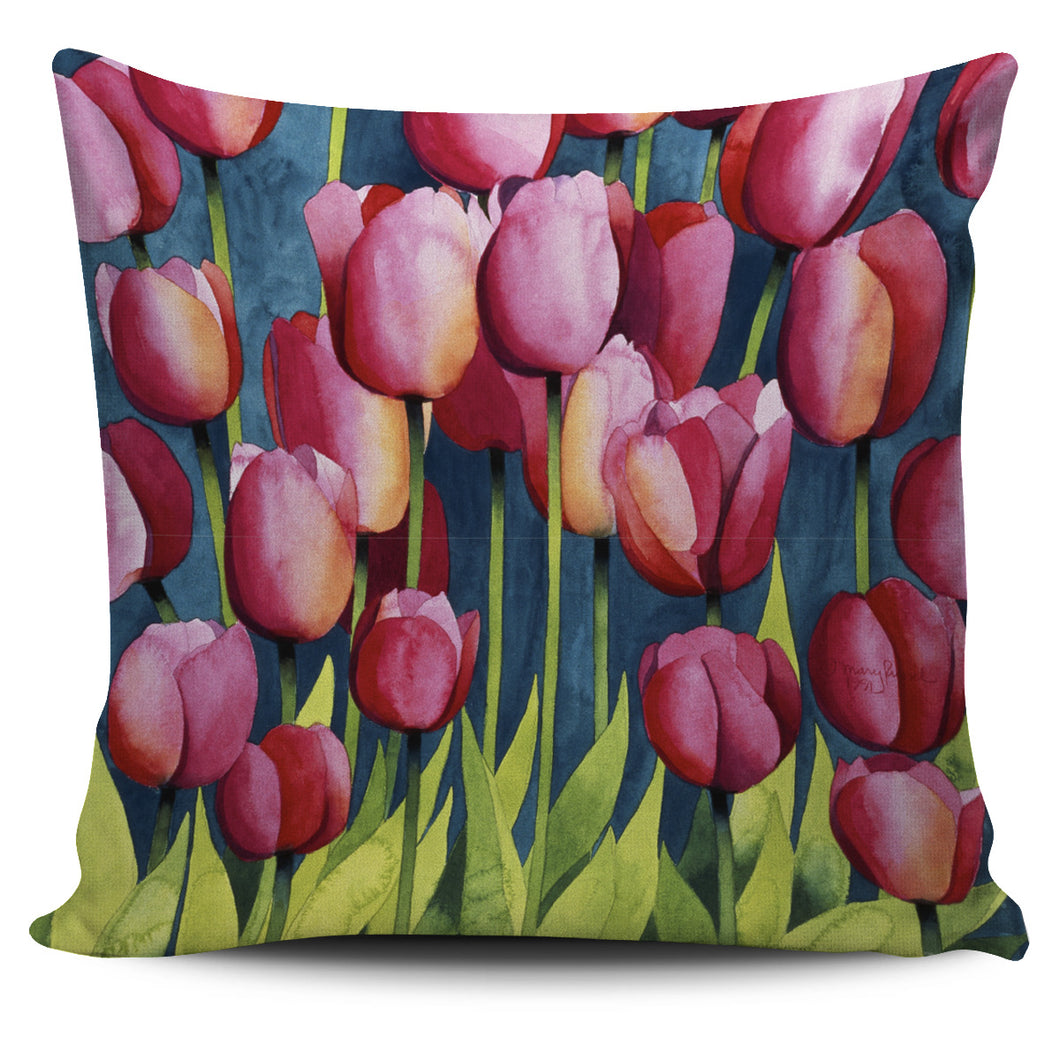 Mary Russell Botanical Art - Pink Tulips