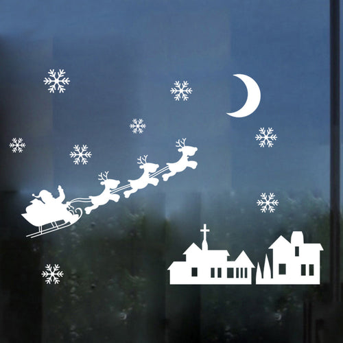 Christmas Snowman Snowflake Decoration Decal Window Wall Stickers