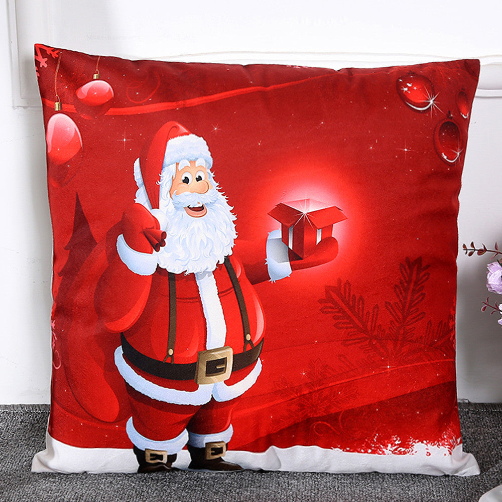 Santa Throw Pillow Cover $5 Special