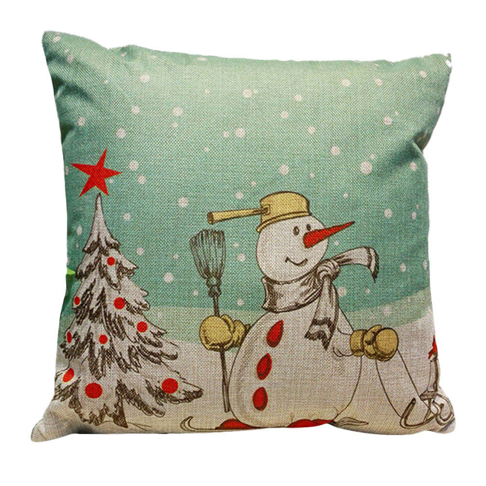 Christmas Snowman throw Pillow Cover