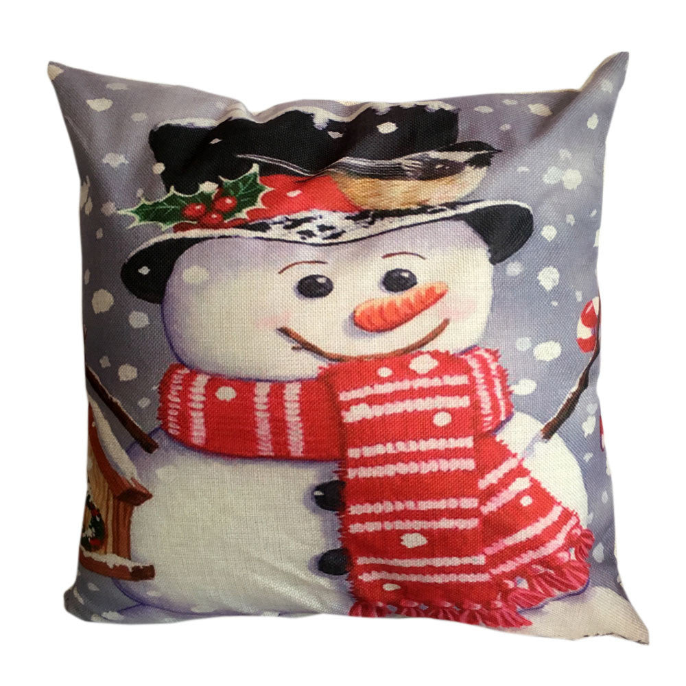 Snowman Throw Pillow Cover