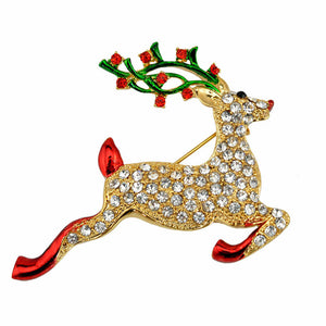 Christmas Reindeer Brooch