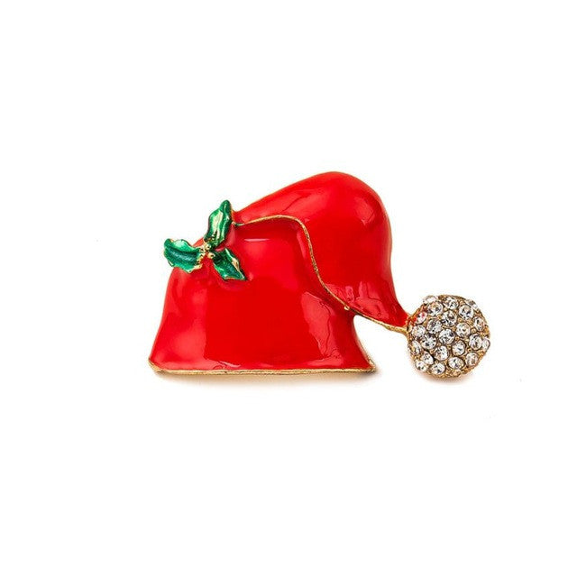Christmas Hat Brooch Jewelry