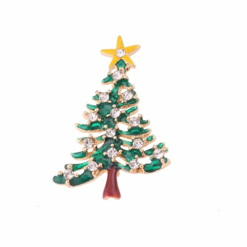 Christmas Tree Rhinestone Brooch Jewelry