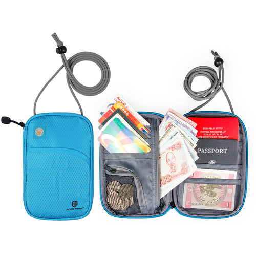 BAGSMART Travel Neck Passport Cover Over Security Credit ID Card Holder Cash Wallet Purse Card Holder Organizer Bag