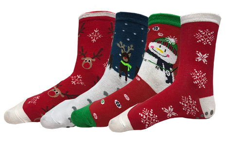 Holiday Edition Pack of 4 Grip Yoga Socks - By YogiSocks