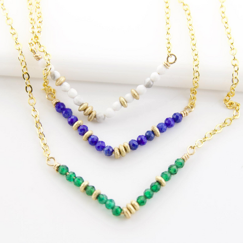 Glimmer V Necklaces