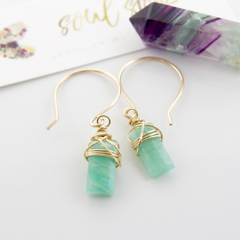 Tangle Earrings - Amazonite