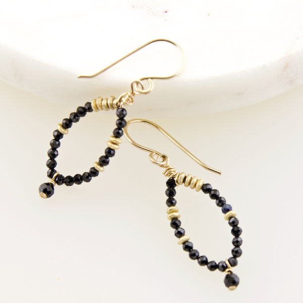 Fairy Earrings Black Onyx